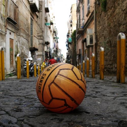 pallone, strada, amici